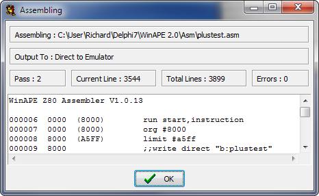 WinAPE - Using the Assembler